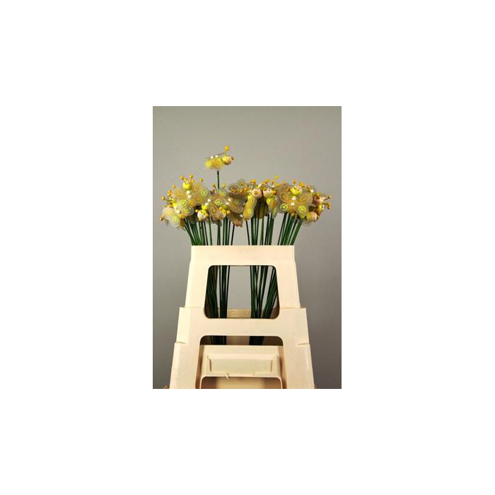<h4>Stick Bee Wood Yellow 6cm</h4>