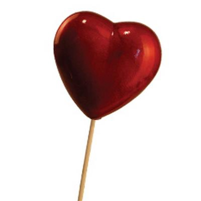 <h4>Cœur de Valentine (métallique) sur tige 50cm</h4>