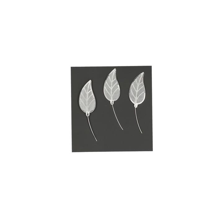 <h4>Bruiloft Lacey blad  4cm x12</h4>