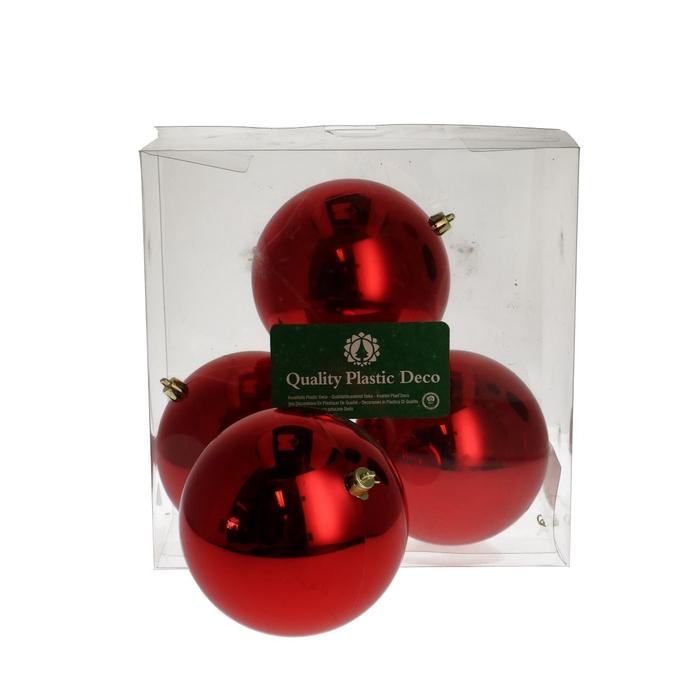 <h4>Christmas bauble Ball plastic 120mm</h4>