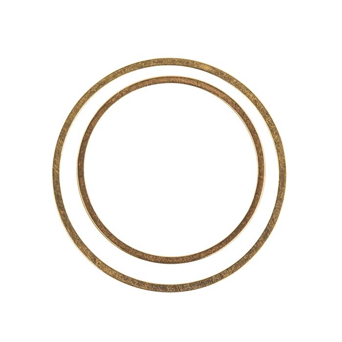 <h4>METAL RING ROUND SINGLE GOLD 4PCS (SET 2X2,5CM 2X2CM)</h4>