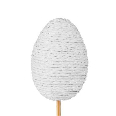 <h4>Bijsteker Eggrope 6x4,5cm+12cm stok wit</h4>