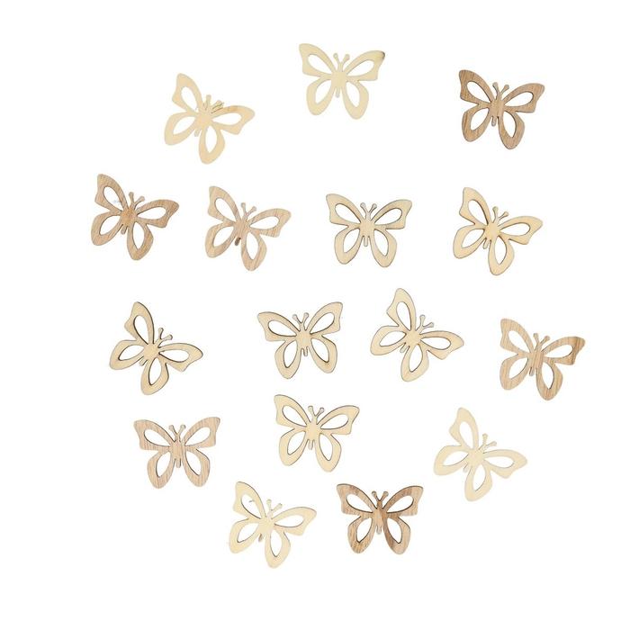 <h4>Voorjaar Hout vlinder 4cm x24</h4>