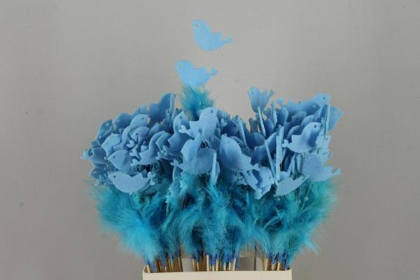 <h4>Stick Feather+prl+bird Blue</h4>