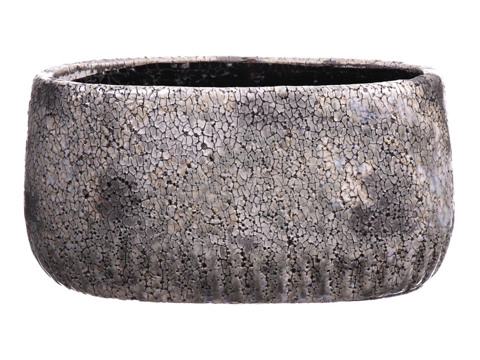<h4>DF550140500 - Planter Toano1 oval 27x12xh15 grey</h4>