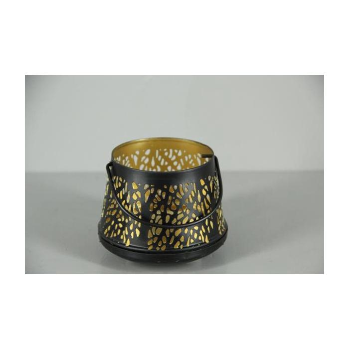 <h4>Lantern Mtl Votive Blk/gold 12</h4>