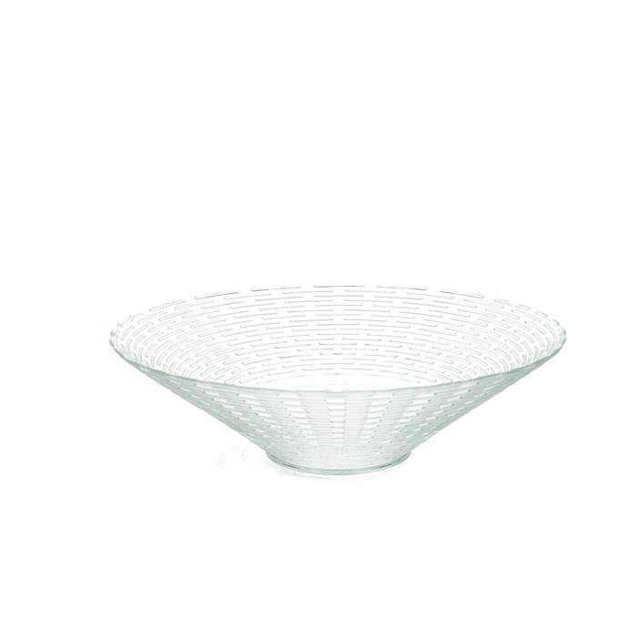 <h4>Glass Bowl ribbed d30*8m</h4>