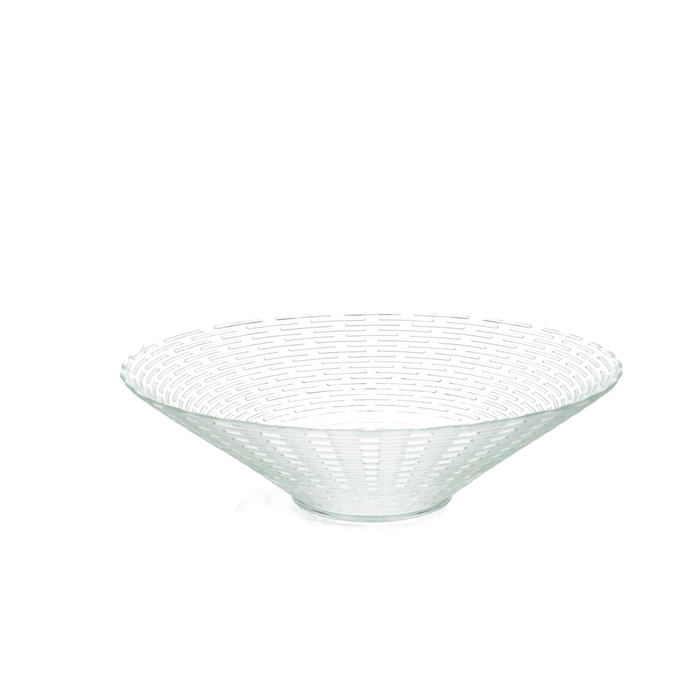 <h4>Glass Bowl ribbed d30*8m</h4>