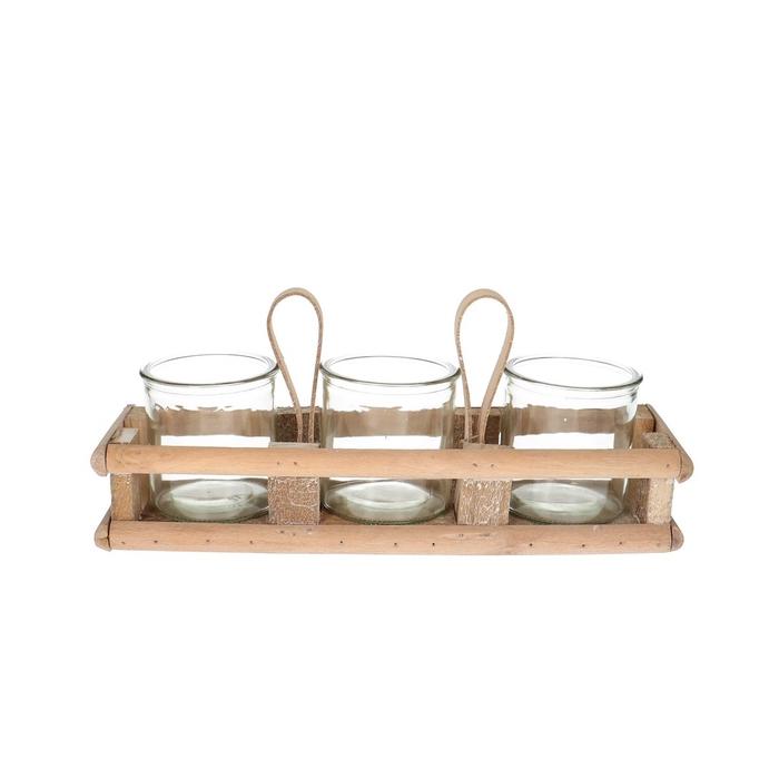 <h4>Glas Tray+3pot d08*8cm</h4>