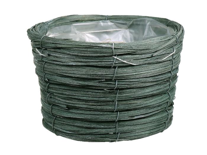 <h4>DF470604000 - Basket Paia d21xh14 green</h4>