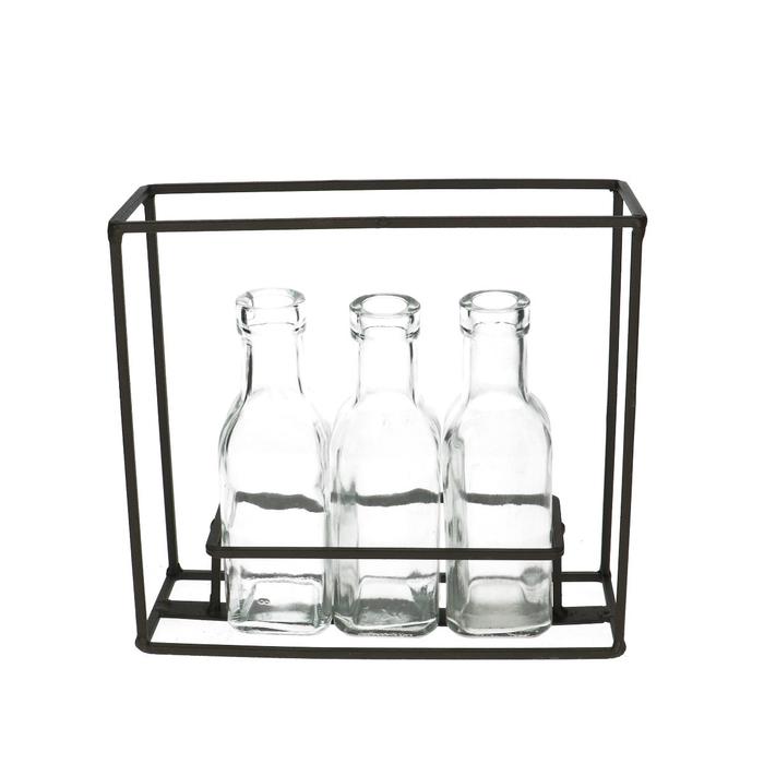<h4>Glas Rek 3 fles vk d3/5*16cm</h4>