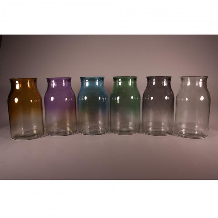<h4>Glas kleur Ralph vaas d12*21.5cm ass.</h4>