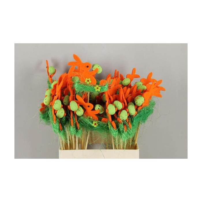 <h4>Stick Rabbit Felt-grass Orange</h4>