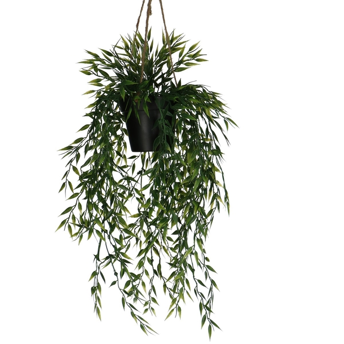 <h4>Silk Hangpot Bamboo 50cm</h4>