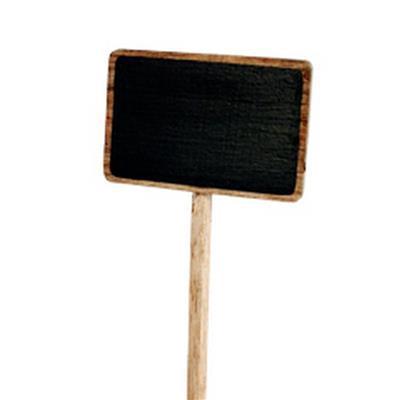<h4>Pic à etiquette en bois 14x8cm sur tige 40cm</h4>