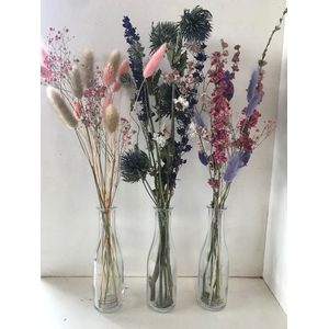 Fles dried bouquet ca.40cmh