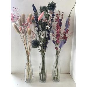 Fles dried bouquet ca.40cmh