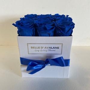 Box vk 15cm wit-blauw