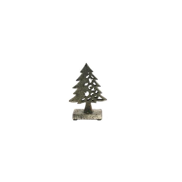 <h4>X-mas Tree Wood 23cm Platinum</h4>