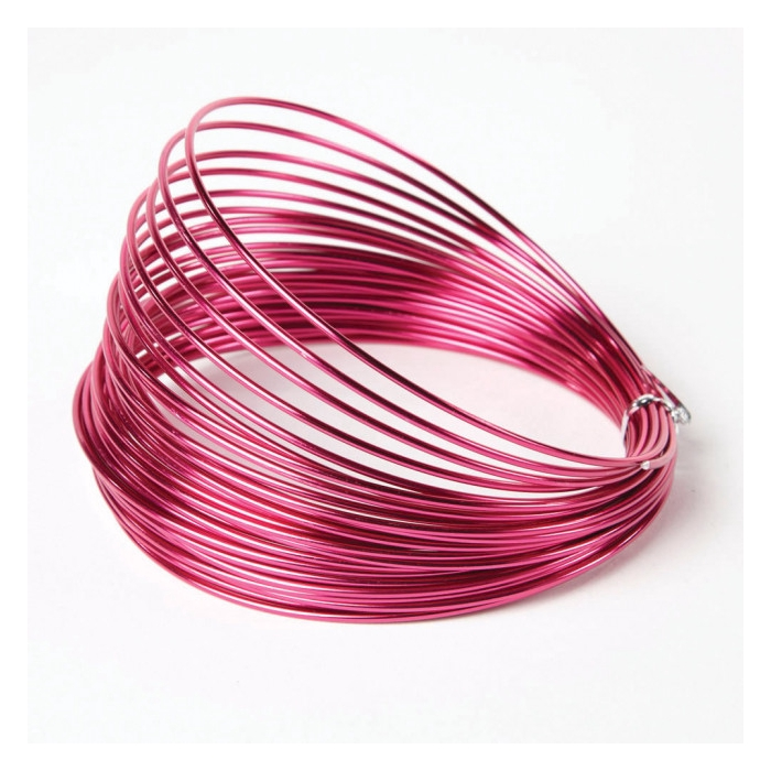 <h4>ALUMINIUM WIRE 2MM STRONG PINK 12M 100GR</h4>