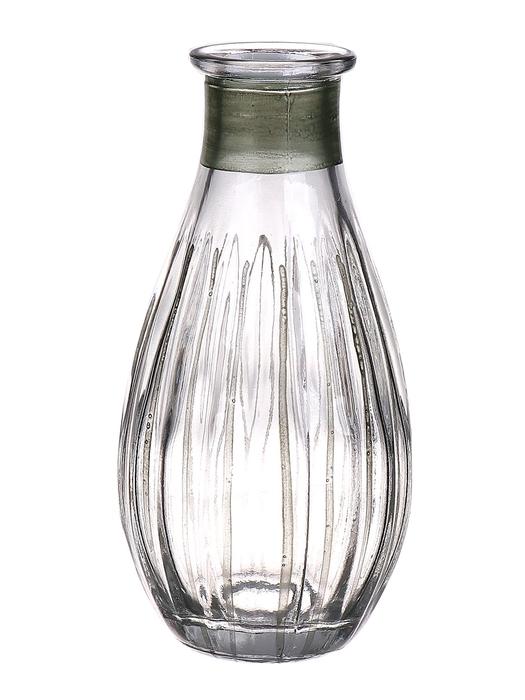 <h4>DF662807700 - Bottle Carola1 d7xh14 clear/green</h4>