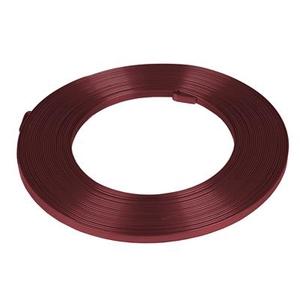 Aluminium wire flat bordeaux -  5mmx10m