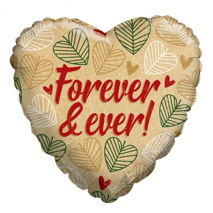 <h4>Liefde Ballon Eco Forever&Ever 45cm</h4>