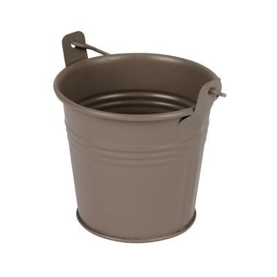 <h4>Bucket Sevilla zinc Ø8,2xH7,2cm - ES7 taupe matt</h4>