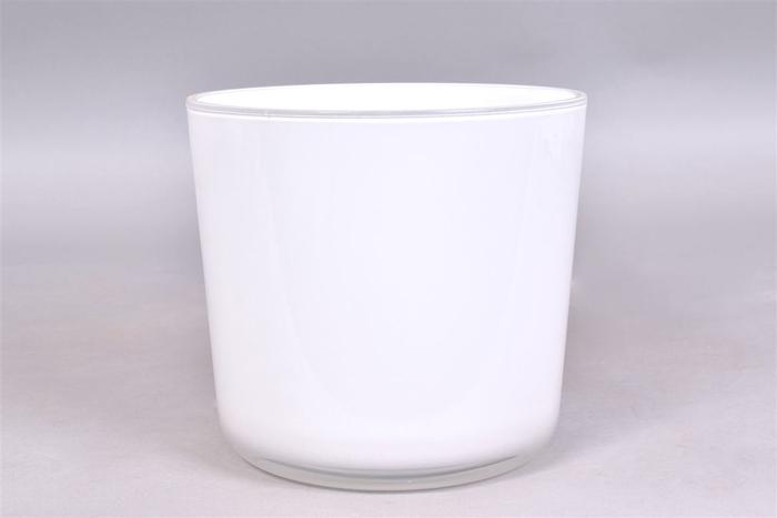 <h4>Glas Pot Wit 17x16cm</h4>