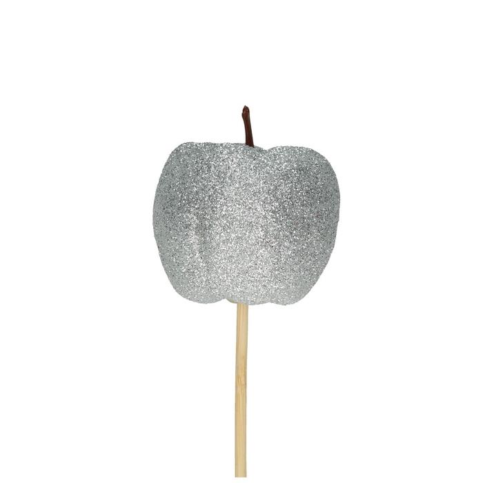 <h4>Kerst bijsteker 50cm Appel glitter d6cm</h4>