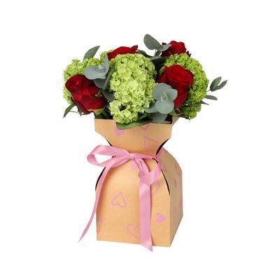<h4>Vaas basic Love story kraft 11,5xH21cm roze</h4>