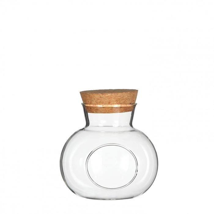 <h4>Glas Kurk bolvaas+gat d15*14cm</h4>