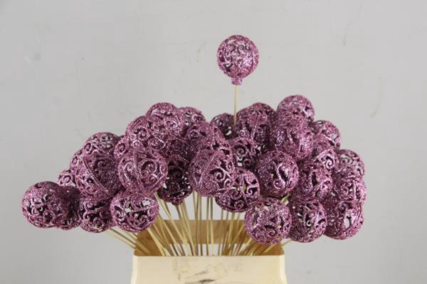 <h4>Stick Ball Baroque Ø6 Gl.pink</h4>