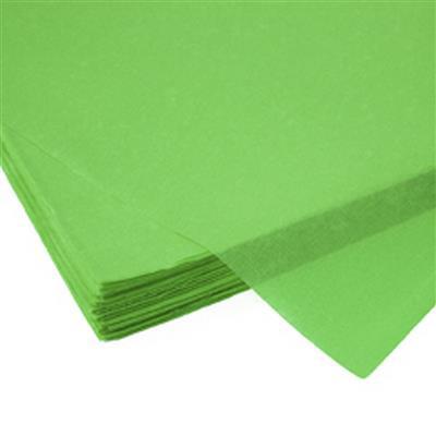 <h4>Papier vel: 50x75cm zijde 480 vellen 17gr l.groe *</h4>