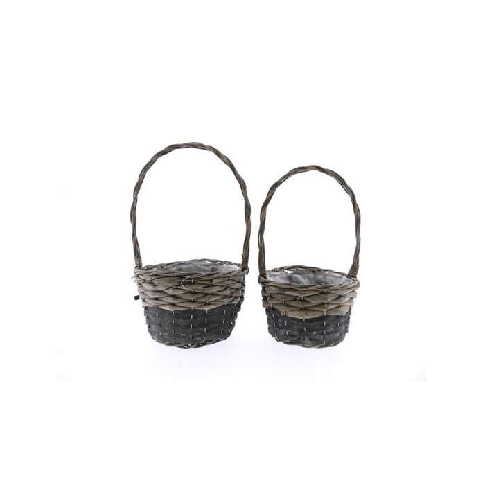 <h4>Basket Willow+hndl S/2 Ø24x42</h4>