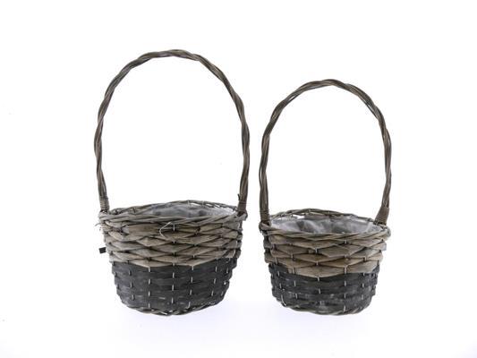 <h4>Basket Willow+hndl S/2 Ø24x42</h4>