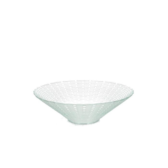 <h4>Glass Bowl ribbed d25*7m</h4>