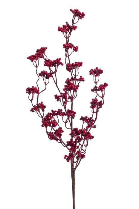 <h4>SILK BERRY SPRAY 80CM RED 421231</h4>
