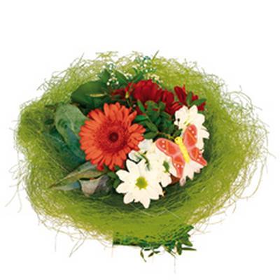 <h4>Bouquet holder sisal round loose Ø20cm dark green</h4>