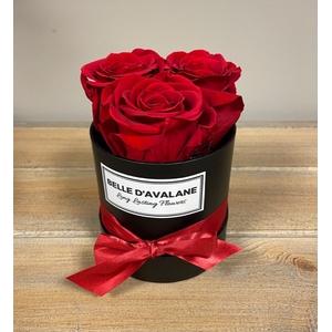Box rd 10cm zwart-rood