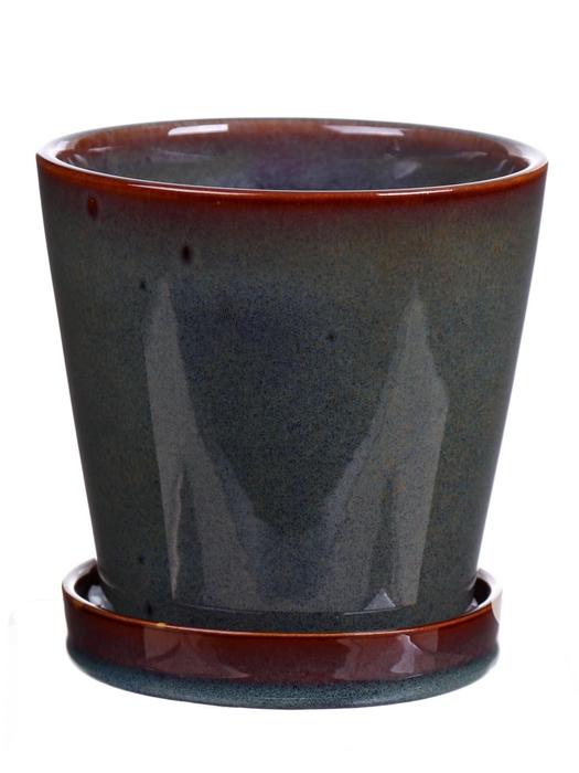 <h4>DF540262821 - Pot+saucer Avelon1 d9.7xh10 green</h4>