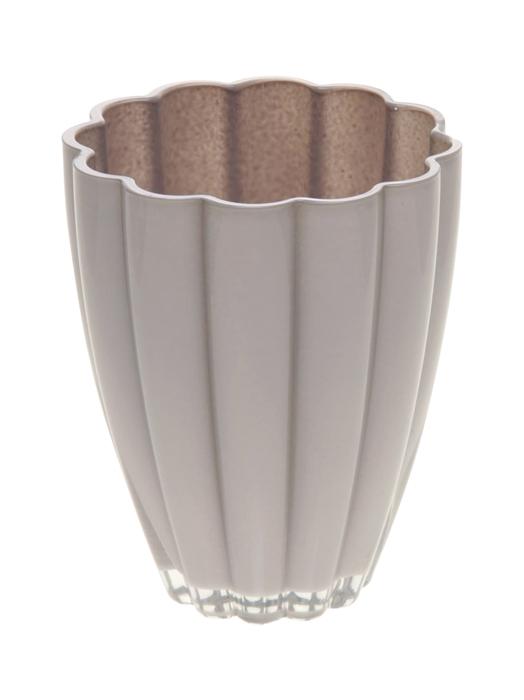 <h4>DF882383300 - Vase Bloom d14xh17 grey pastel</h4>