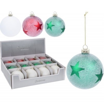 <h4>Christmas bauble Ball deco star 80mm</h4>