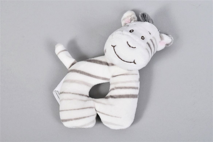 <h4>Zaza-zoo Zebra Rammelaar Rond 15cm</h4>