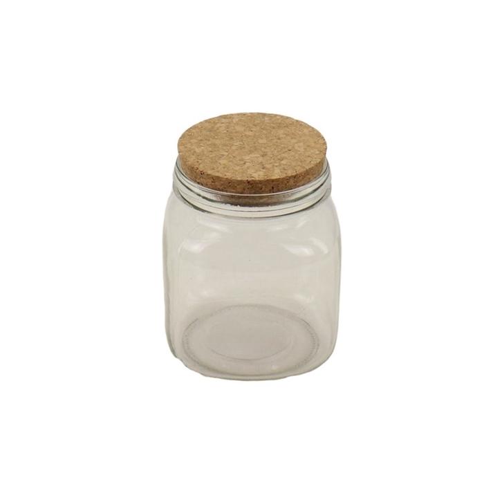 <h4>Glass Bottle+cork d12*14cm</h4>