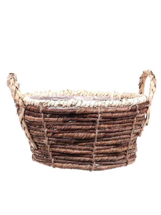 <h4>DF662740300 - Basket Banana tree bark d27xh13/17</h4>