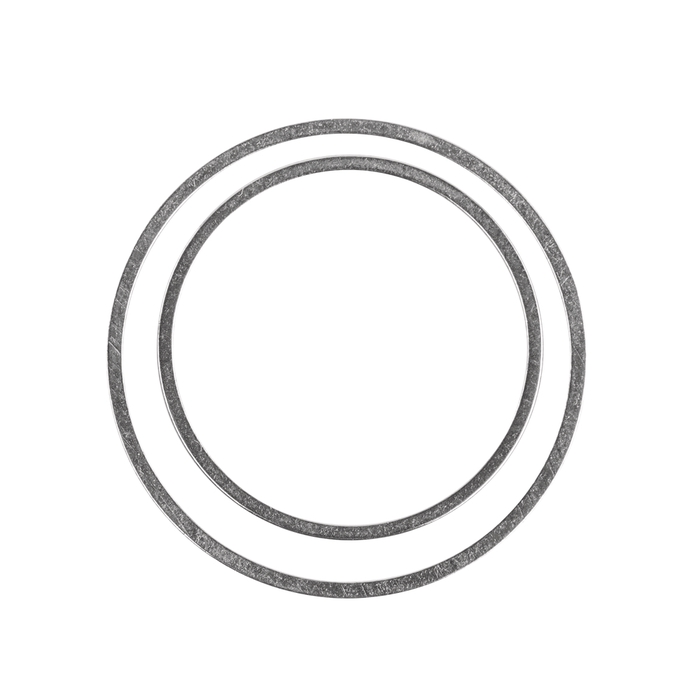 <h4>METAL RING ROUND SINGLE SILVER 4PCS (SET 2X2,5CM 2X2CM)</h4>