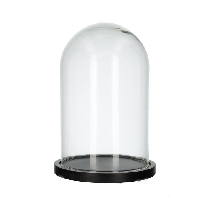 <h4>Glas Stolp+hout d17.5*25cm</h4>