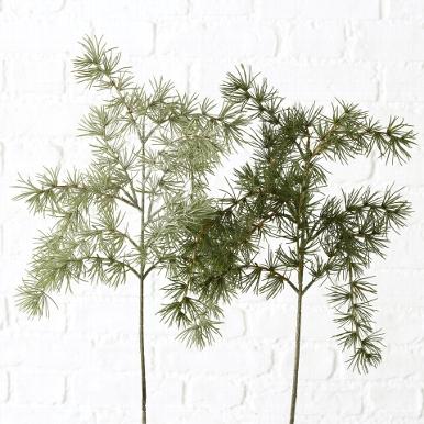 <h4>Zijde, Kiefer, H 62 cm, 2 ass, Green</h4>