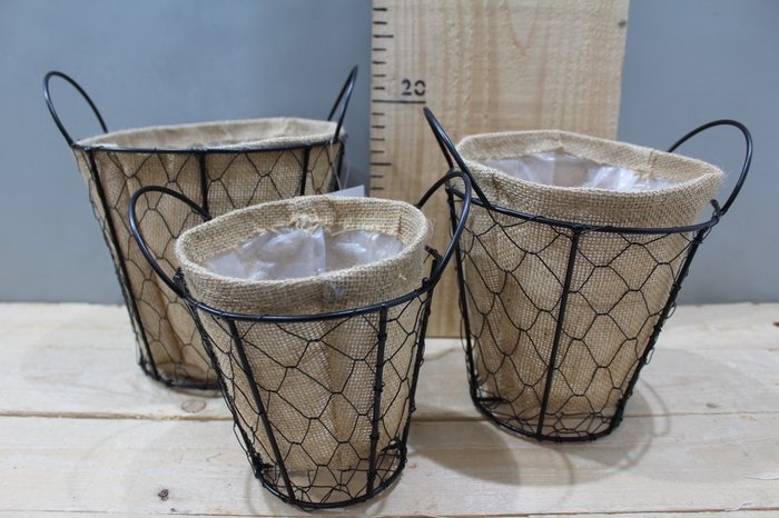 <h4>WIRE BASKET ROUND WITH JUTE SET 3PCS ZX17A-650</h4>